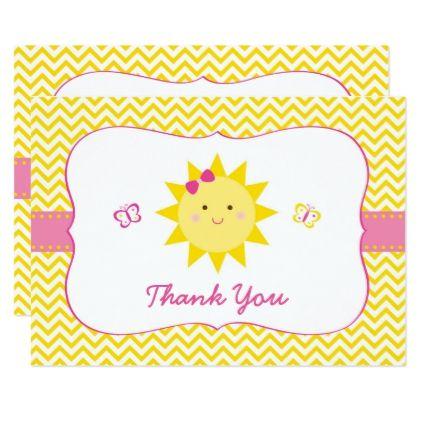 Cute Sunshine Birthday Thank You Card Birthday Gift Present
