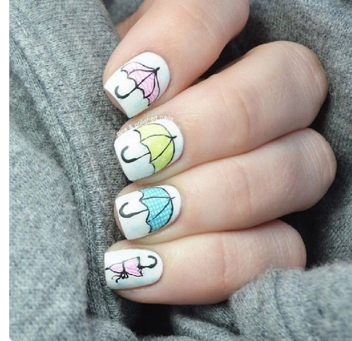 I have to put this on nails and umbrellas | Cute nail art | Pinterest
