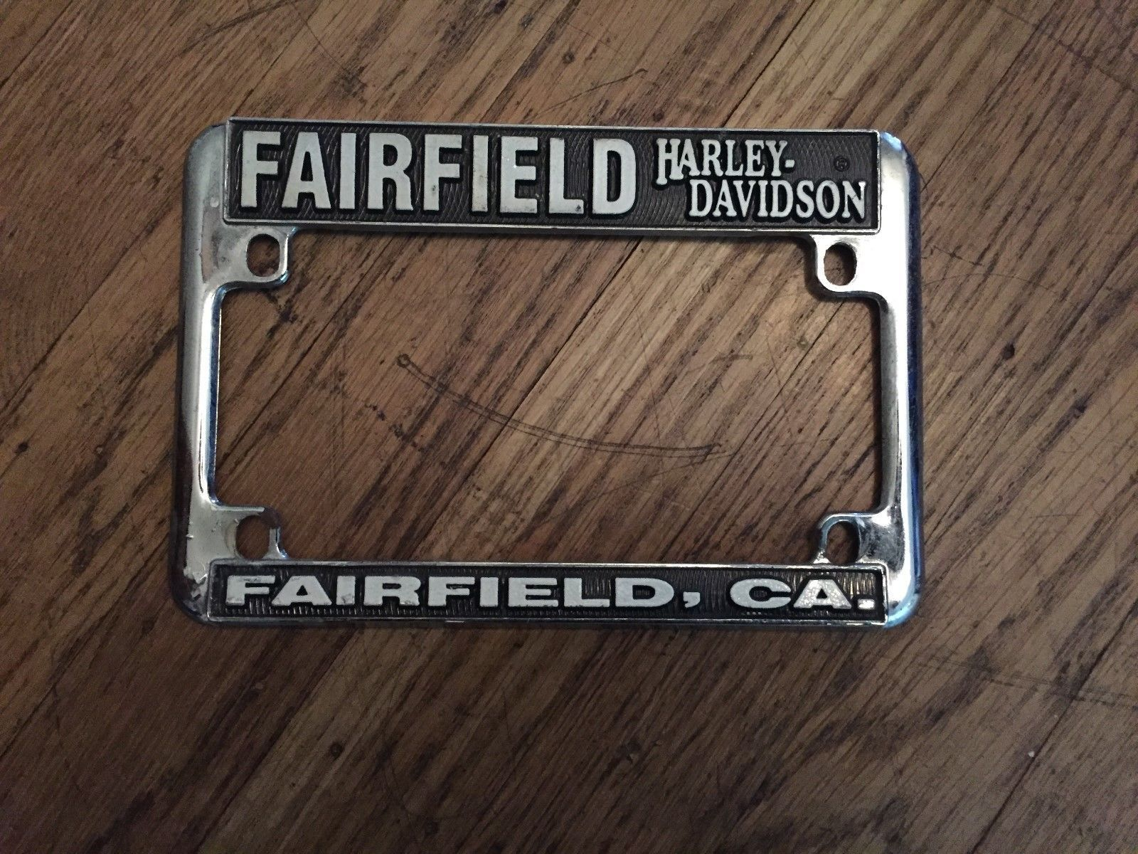 harley fairfield california harley davidson motorcycle license plate frame please retweet - Harley Davidson License Plate Frame For Motorcycle