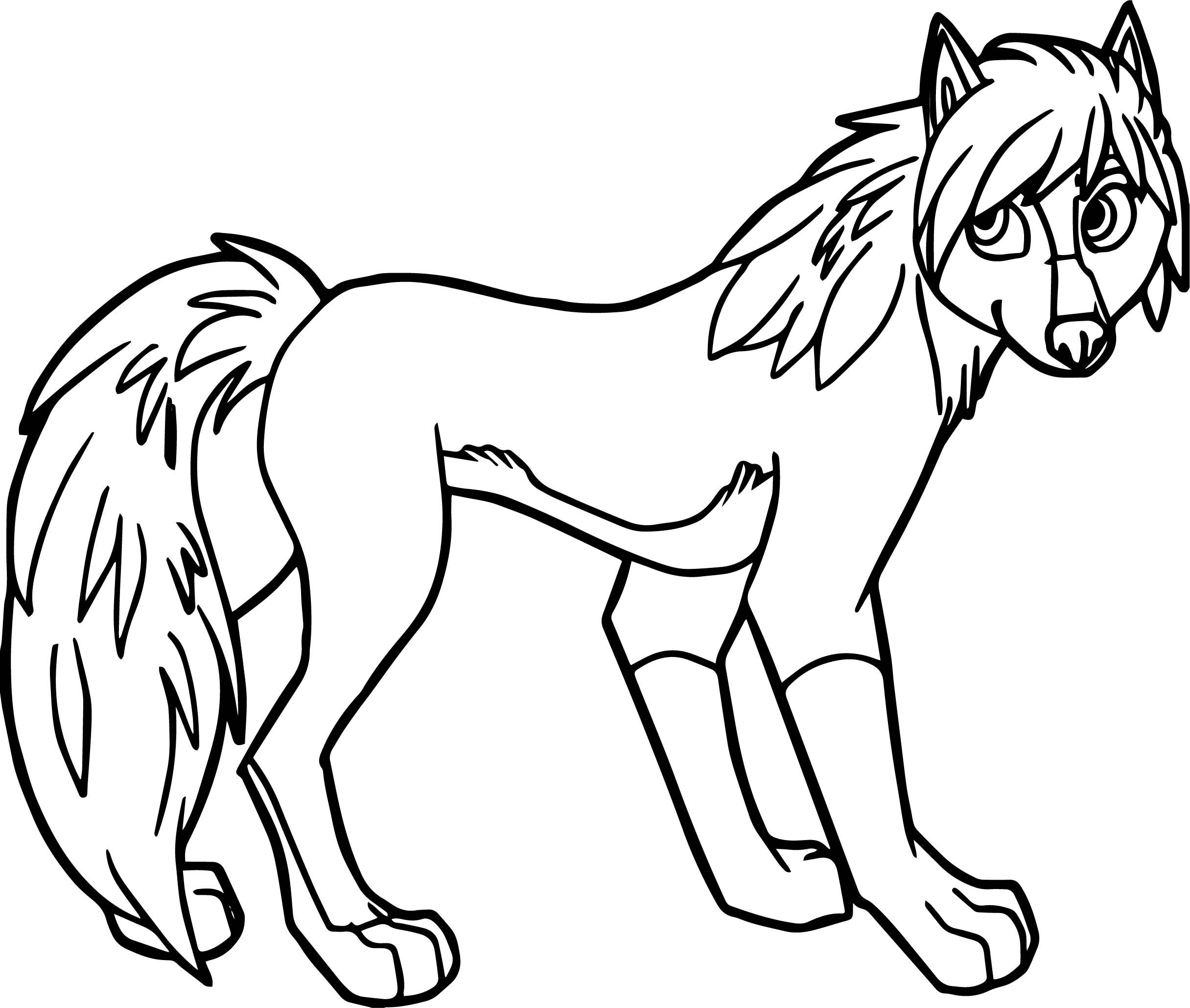 awesome Alpha And Omega Wolf Girl Coloring Page Wolf