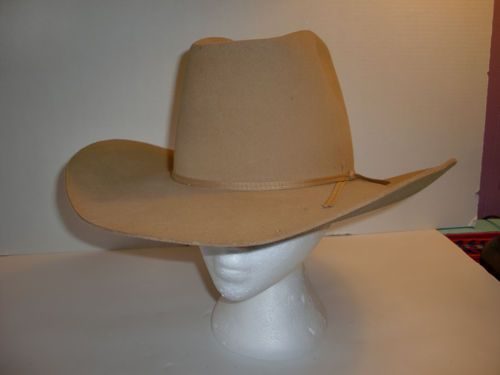 Vintage Dobbs West Felt Wool RARE Cowboy Western Hat Mens Womens Sz 7 1 4  f89beaf772d