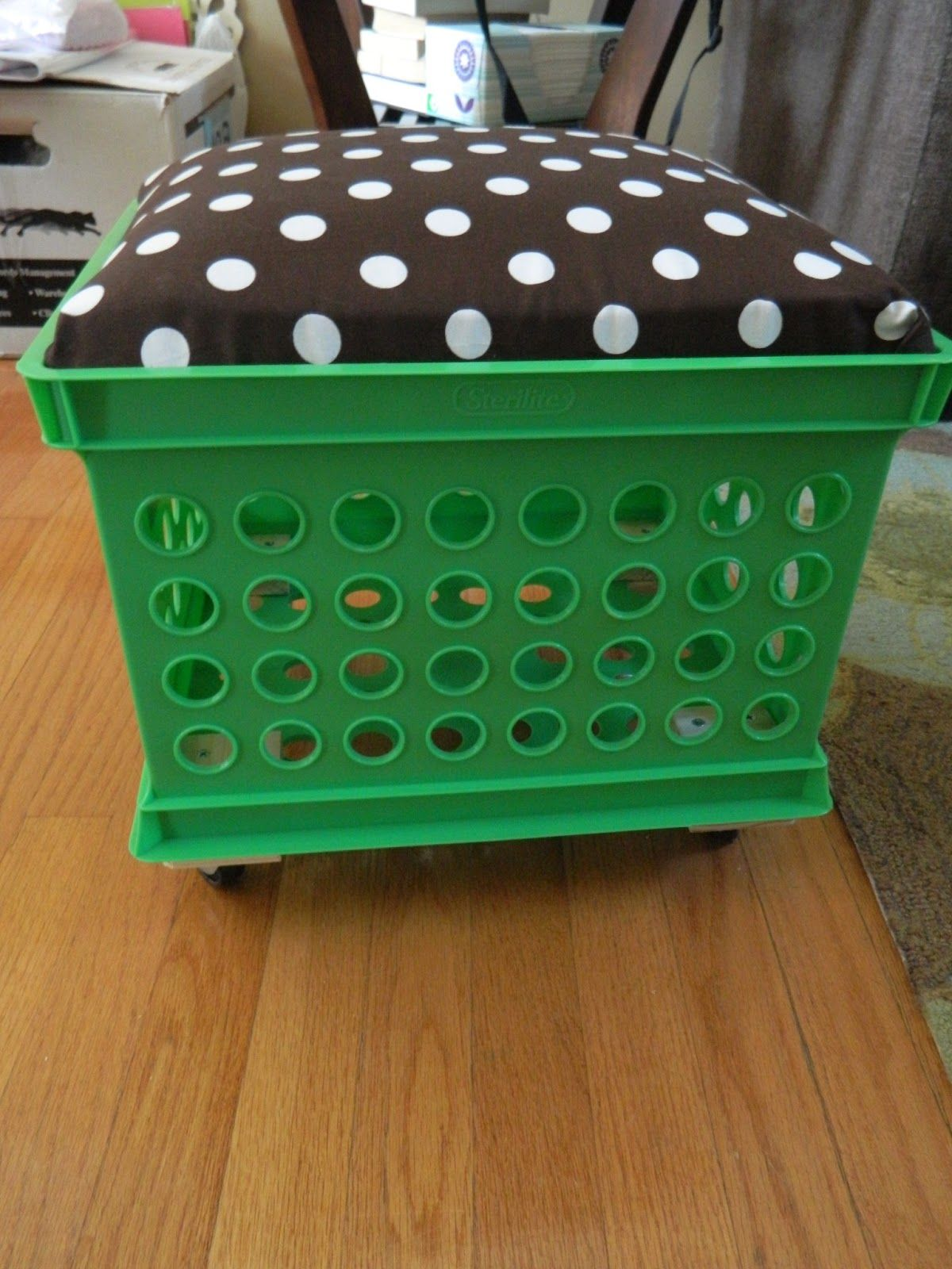 How To Add Wheels To Bottom Of Milk Crates Google Search Crate Seats Crate Seats Classroom Crates