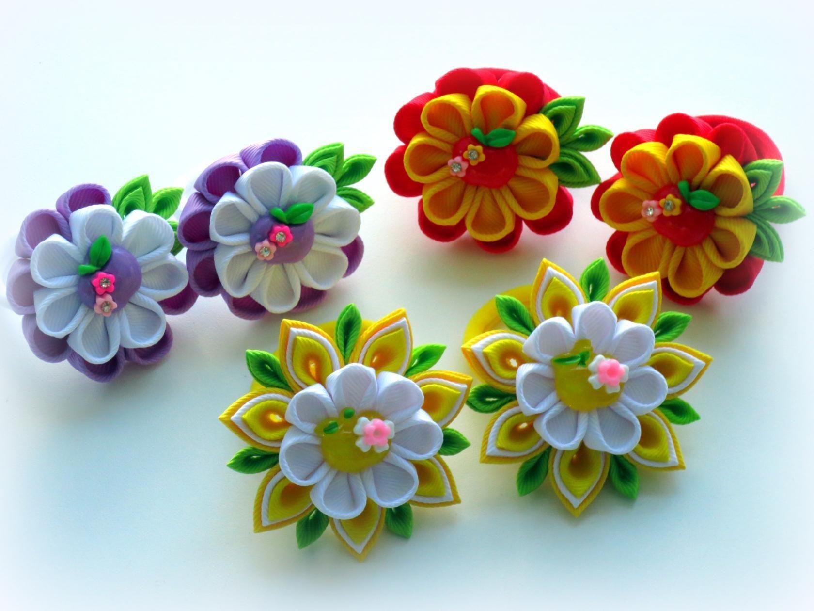 обои цветочки канзаши фото генеральных