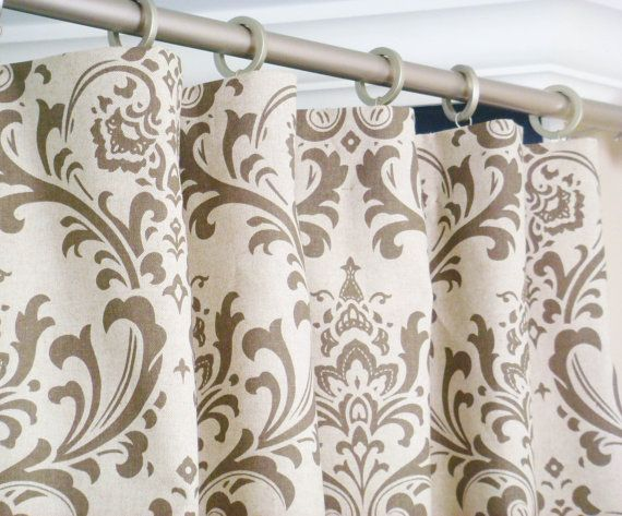 Pair of Rod Pocket Curtains in Kelp Linen Taupe by Zeldabelle ...