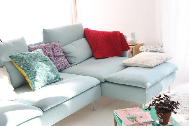 Blue Home Interior Living Sofa Design Sofa Mebel Ruang Keluarga