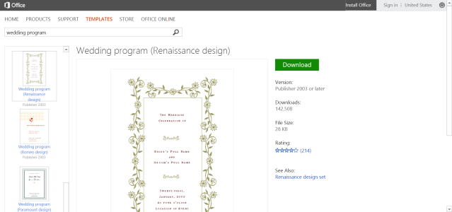 free ms office templates for weddings printable wedding program template for microsoft word or publisher