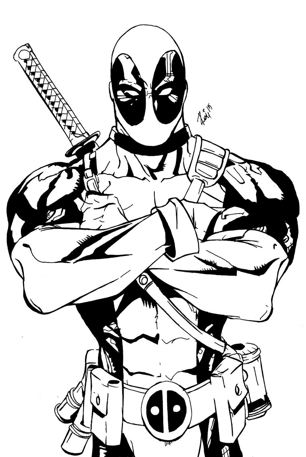 Deadpool Avengers Coloring Pages Superhero Coloring Pages Avengers Coloring