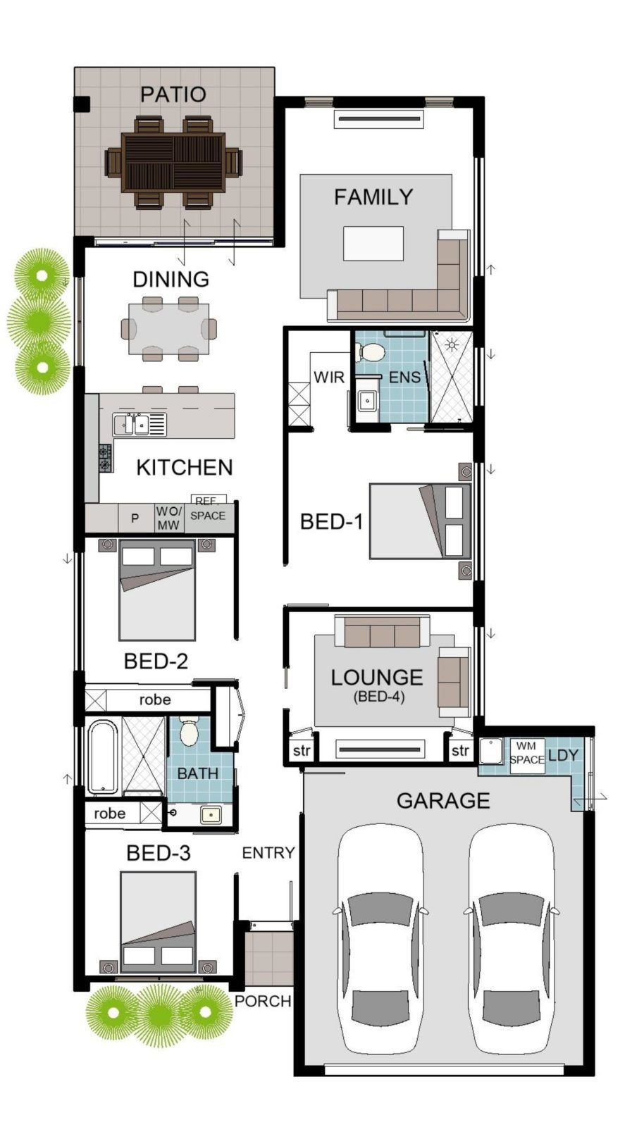 Pin By Davi Buba On Bungalow House Design Australian House Plans Bungalow House Design House Floor Plans