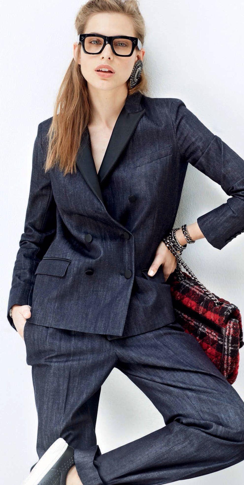 Formal denim - office outfit idea