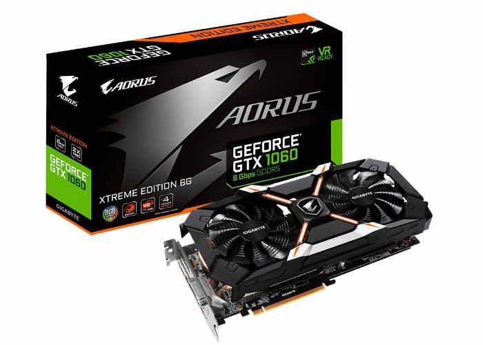 Gigabyte Aorus Geforce Gtx 1060 6gb Xtreme Edition Graphics Card Unveiled Gigabyte Graphic Card Nvidia
