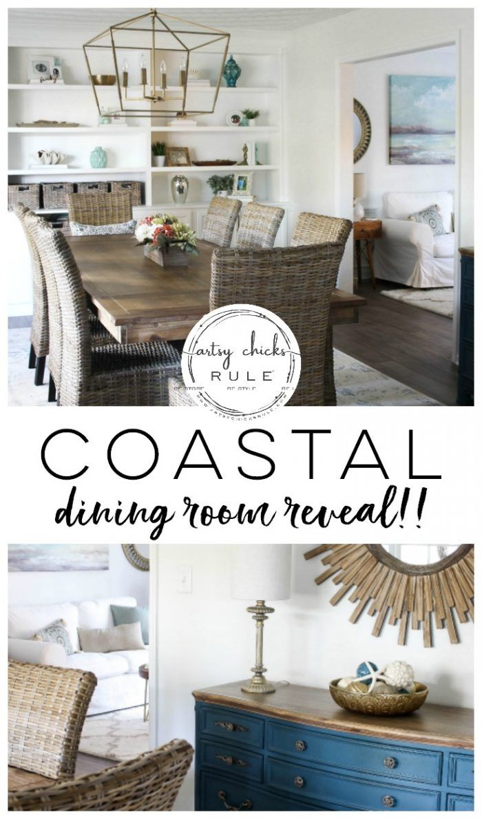 Coastal Dining Room Reveal images