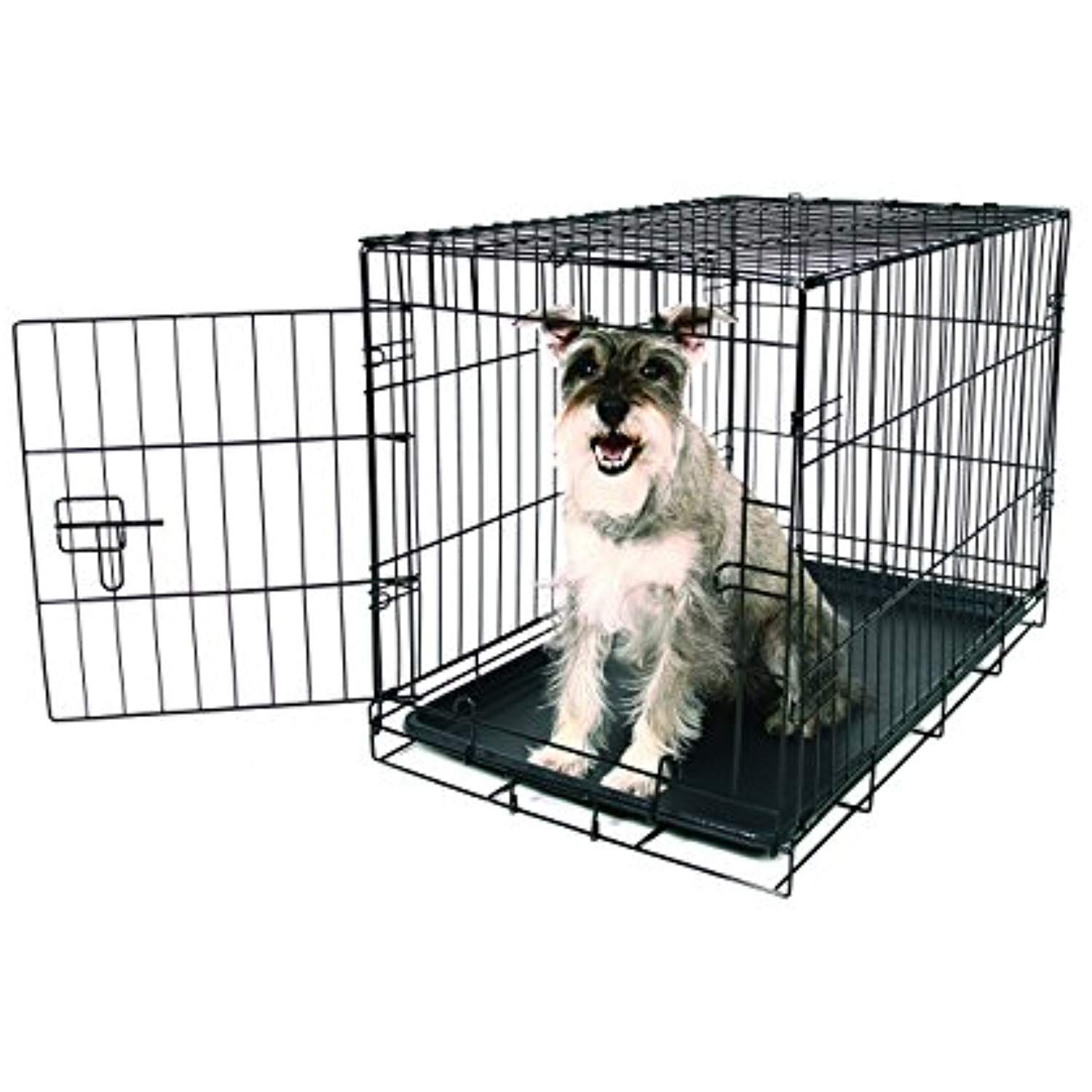 Carlson Pet Products Secure And Foldable Single Door Metal Dog Crate Medium You Can Find Out More Details At The L Dog Crate Wire Dog Crates Xxl Dog Crate