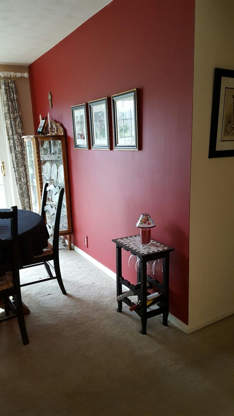 enchanting kitchen red accent wall | My old dining room, adjacent to kitchen with cranberry red ...