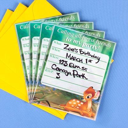 disney themed party invitations