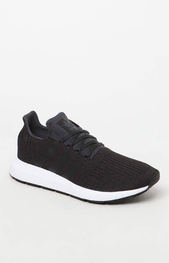 8d114e826 adidas Swift Run Black   White Shoes in 2018