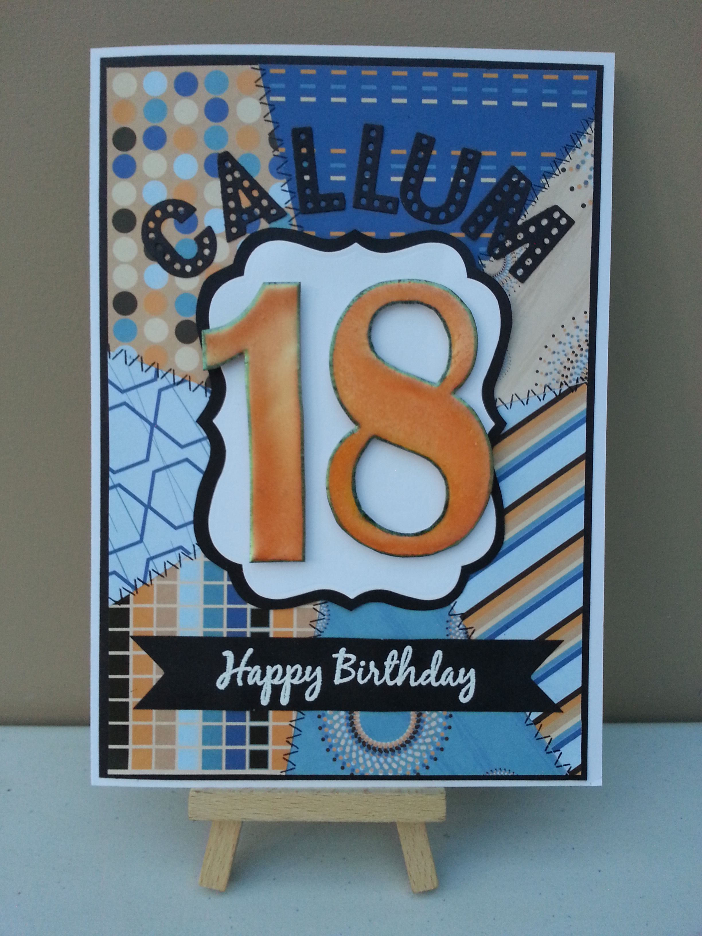 18th Birthday card Age and anniversary cards Pinterest