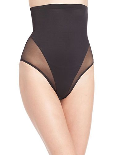 <ul> <li>No panty line bodyshaper with sheer details</li>  <li>Nylon/elastane</li>  <li>Hand wash</li>  <li>Imported</li> </ul>