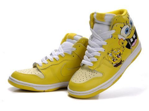 Cheap Spongebob Squarepants Nikes Dunk Yellow Black For Men/Women Shoes For  Sale