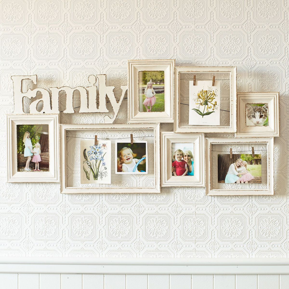Family Ivory Collage Wall Photo Frame | Family collage walls ...
