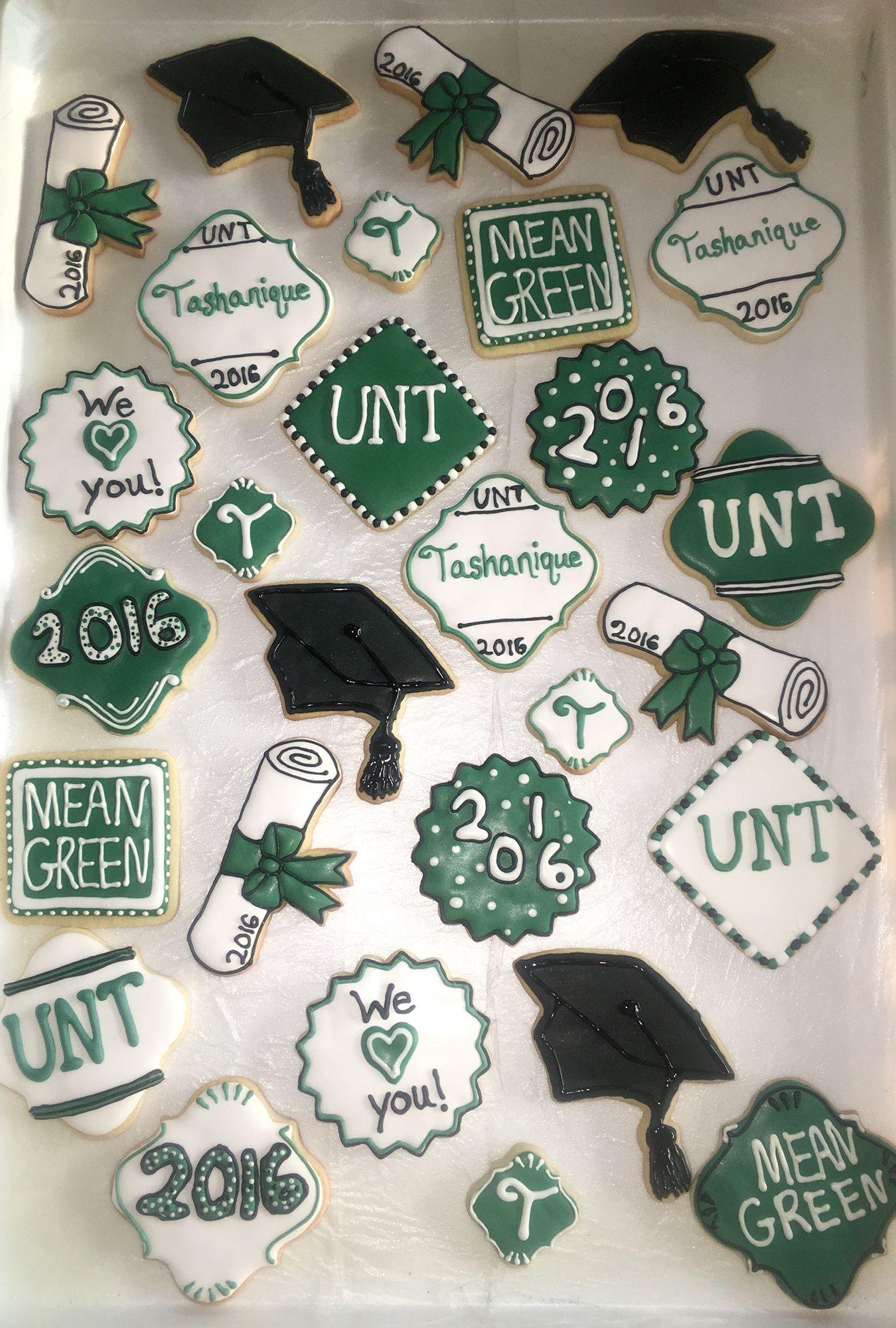 UNT graduation cookies | College COOKIES in 2018 | Pinterest