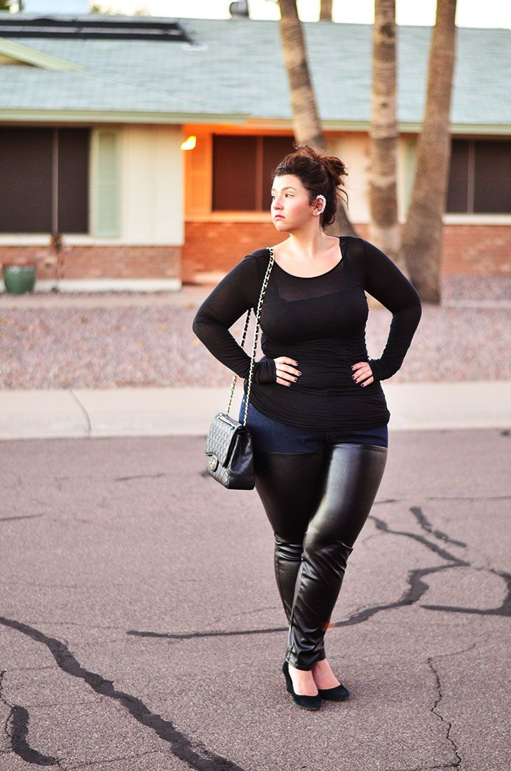 plus size leather jeans - Jean Yu Beauty