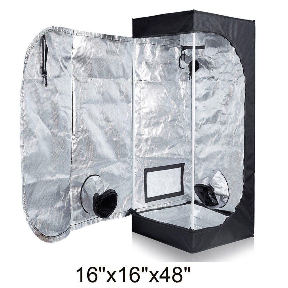 16x16x48 Kit Hydro Plus Grow Tent Room Kit 16x16x48 Indoor Plants Growing Reflective Mylar Dark Room Non Toxic Hut Hydroponics Growing System Accessories