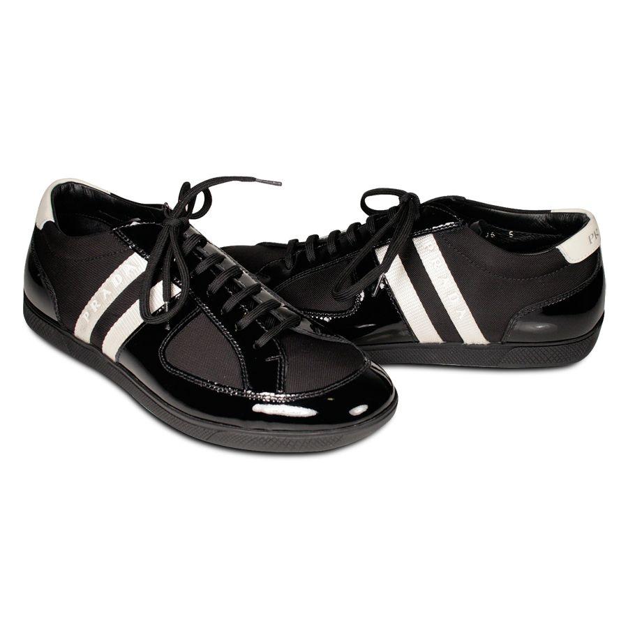 f6c5ec0c Prada Sneakers Sports Mens Shoes Black & Silver 4E1806 (PRM66) | My ...