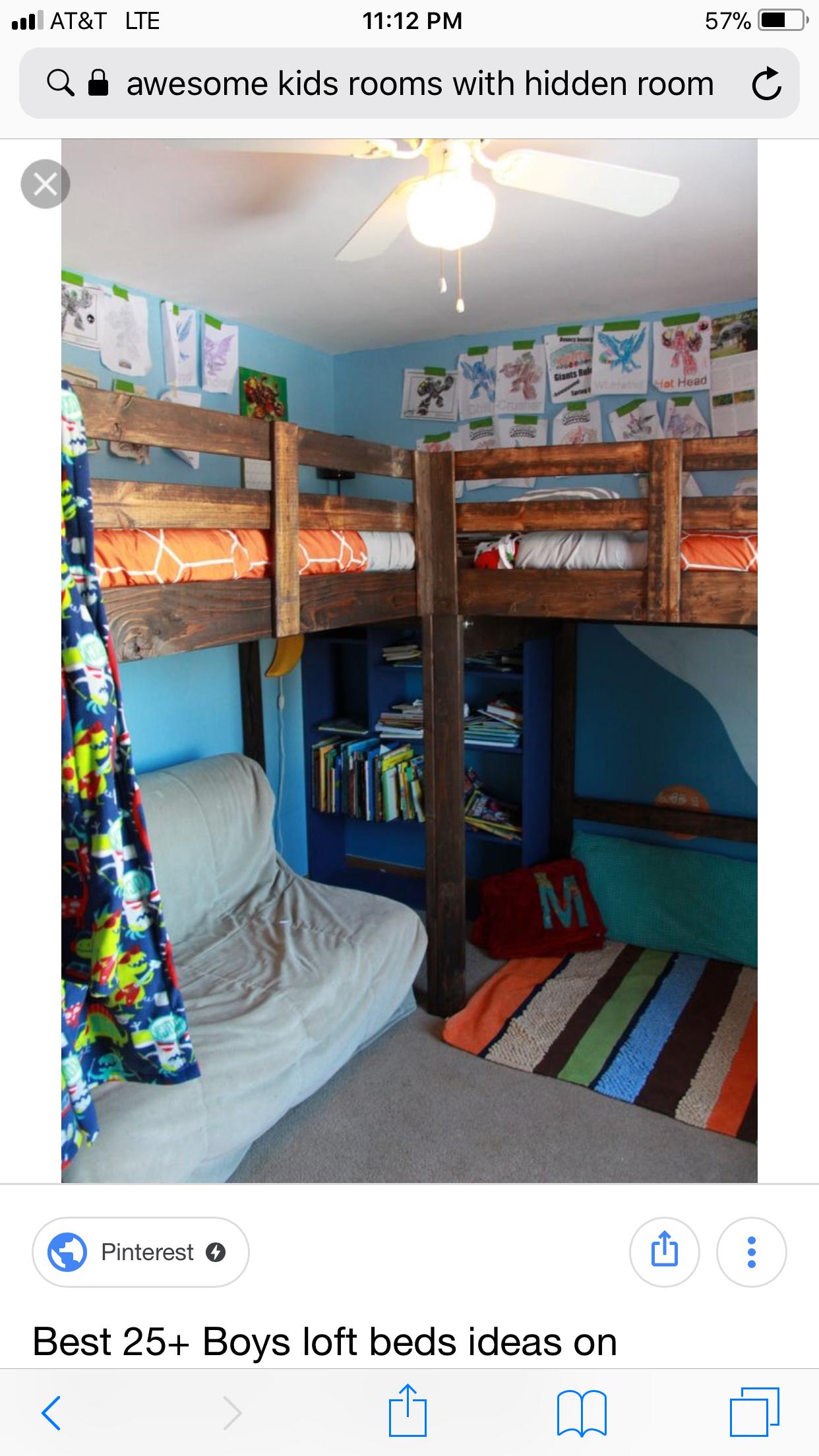 Childrens loft bedroom ideas  Pin by Jenn Parker on Bedrooms ideas  Pinterest  Room Bedroom and
