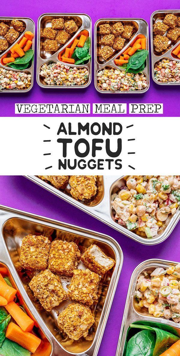 Almond Tofu Nugget Meal Prep