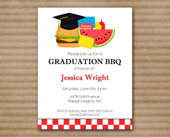 Graduation Bbq Invitation Barbeue By Paperhousedesigns On Etsy 8 00 Party Grad Parties Invitations