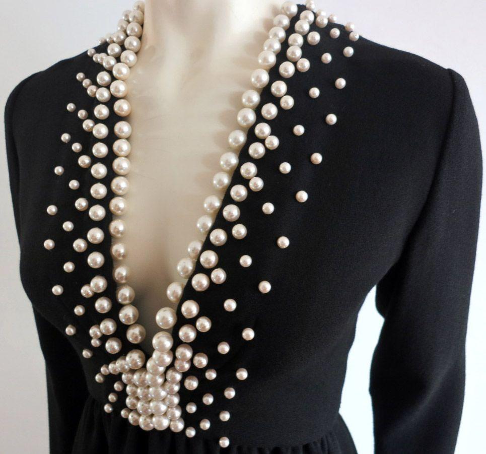 Blazer con bordado de perlas   Bordados   Pinterest   Bordado de ...