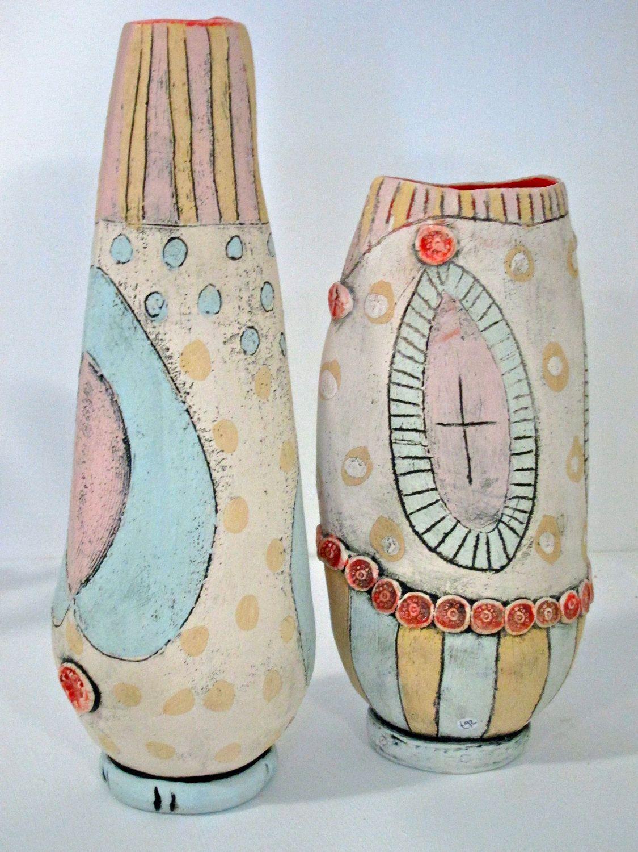 Hand built ceramic abstract form / vessel / vase.. £90.00, via Etsy.