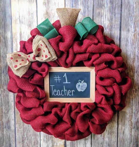 Photo of Teacher Gift | Gift For Teacher | Teacher Appreciation Gift | Teacher Wreath | School Wreath | Class