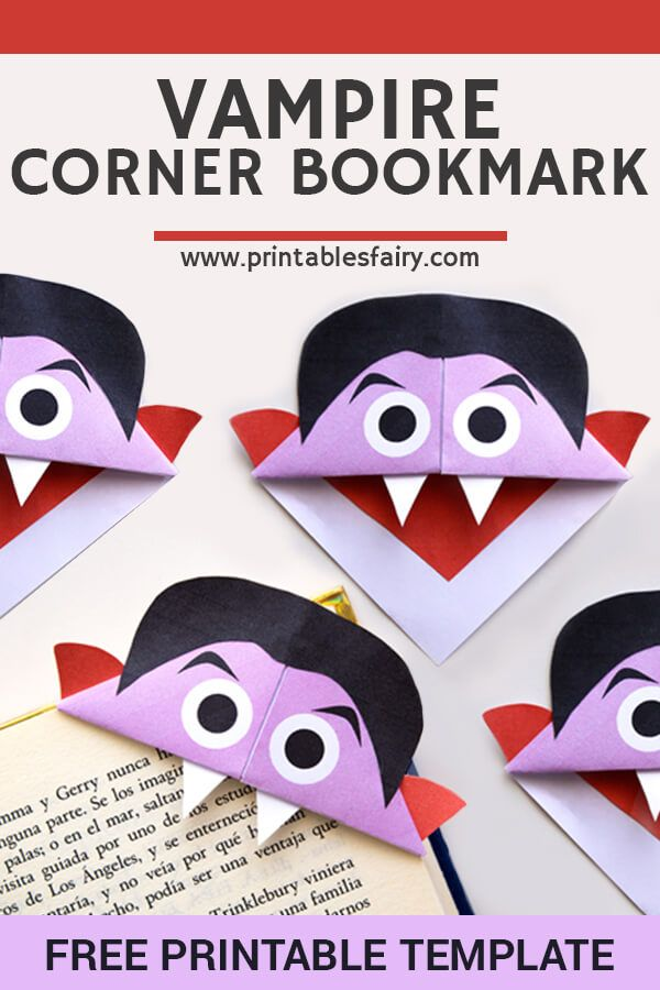 Vampire Corner Bookmarks - The Printables Fairy