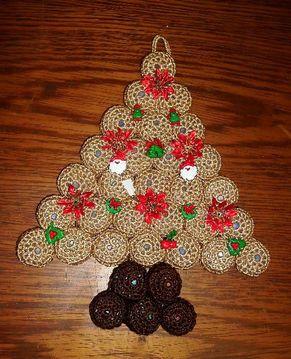 As Receitas De Croche Pinheiro De Natal De Croche Arvores De