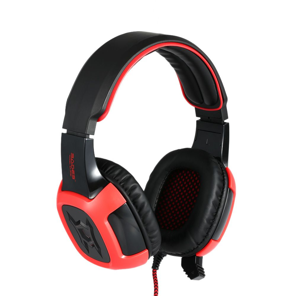 Over Ear Gaming Headset Headphone with Mic USB LED Noise
