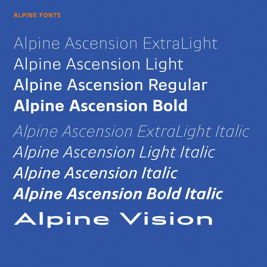 """129 Likes, 2 Comments - Production Type (@productiontype) on Instagram: """"The Alpine custom typefaces are deployed brand-wide, from the car interiors to the mobile app.…"""""""
