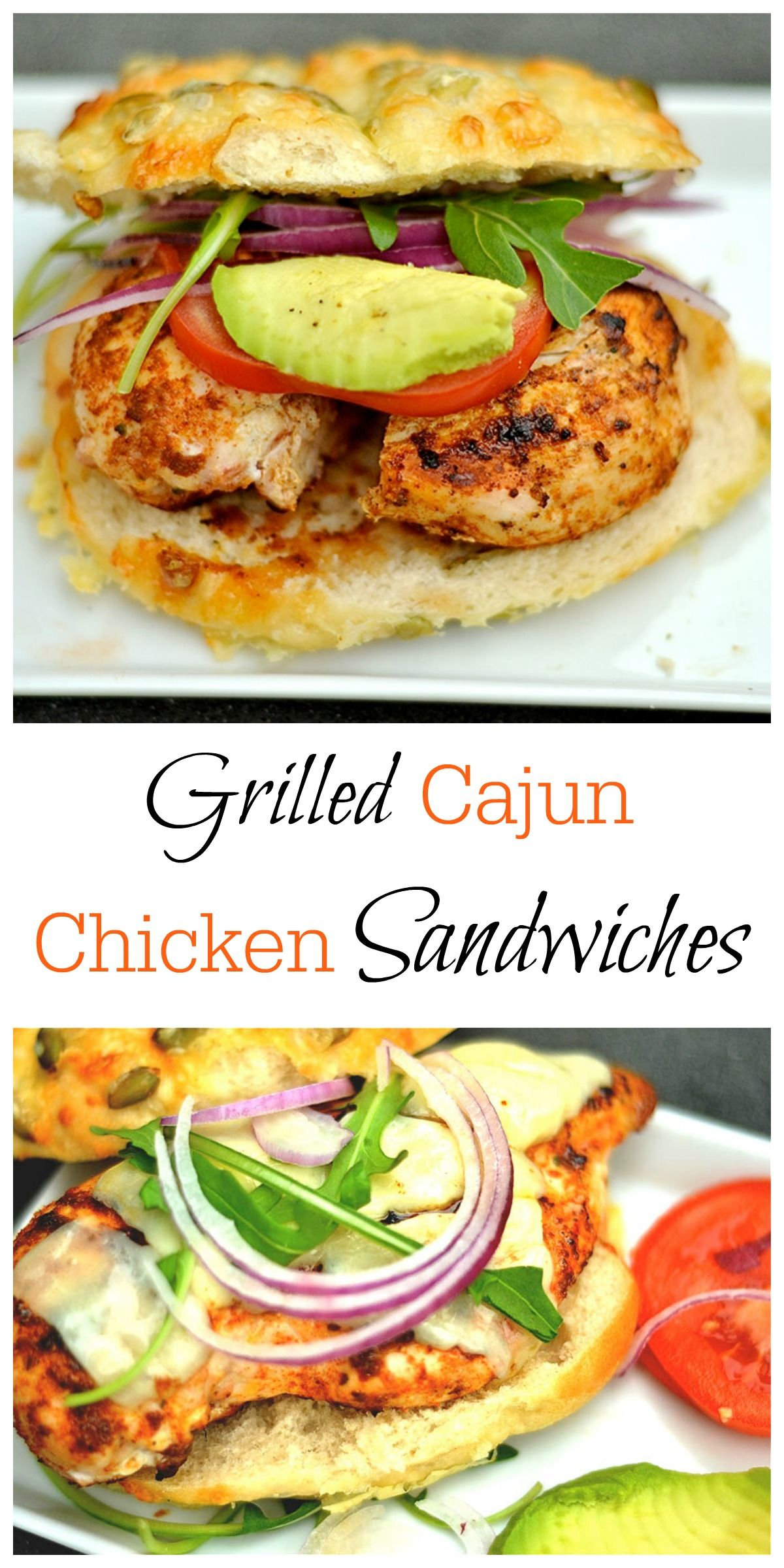 grilled cajun chicken burgers | recipe | light and delicious