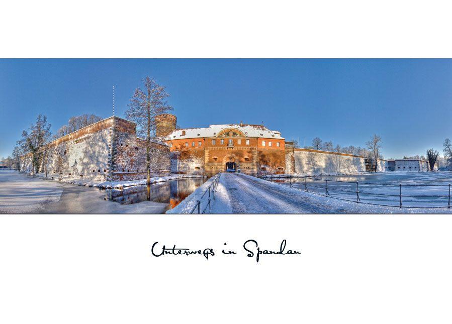 Panorama der winterlichen Zitadelle