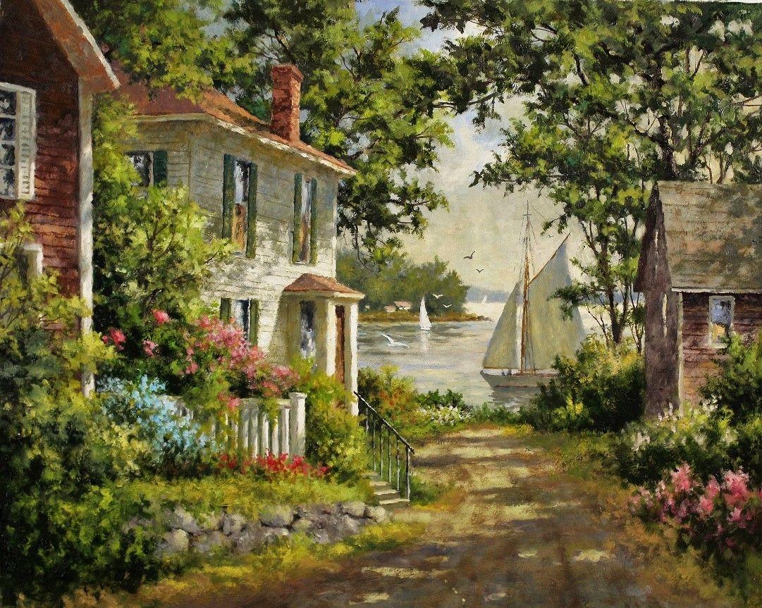 Artist-Gary-Shepard-24x30-Sailors-Cove-oil-painting.jpg 1.081×863 piksel