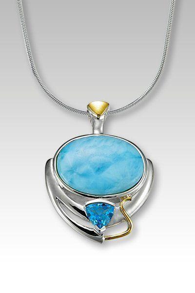 Marahlago lena collection larimar pendant necklace with blue larimarket marahlago lena collection larimar pendant necklace with blue topaz 54500 http aloadofball Image collections
