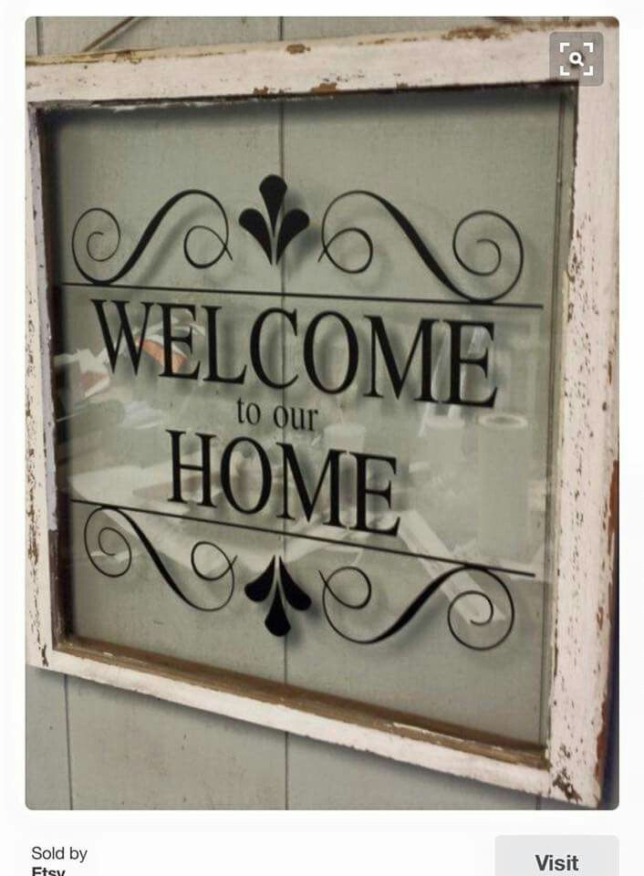 Pin By Laureen Myers On Cricut Crafts Sissix Vinyl Window Crafts Old Window Crafts Diy Window