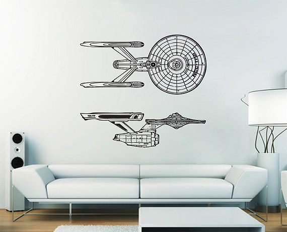 Uss Enterprise Ncc 1701 Serie1 Star Trek Vinyl Wall Art Decal Wd391 Star Trek Decor Uss Enterprise Ncc 1701 Vinyl Wall Art Decals