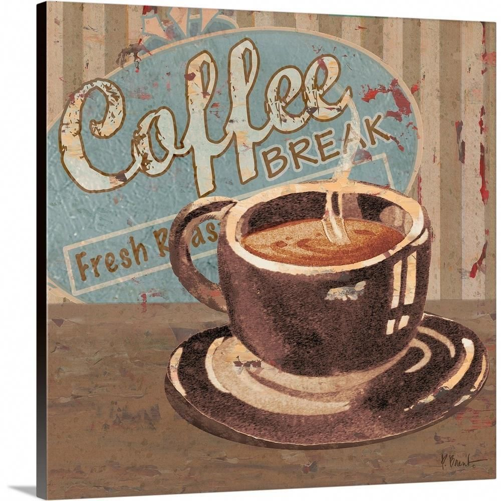 Greatbigcanvas Coffee Brew Sign Iv By Paul Brent Canvas Wall Art