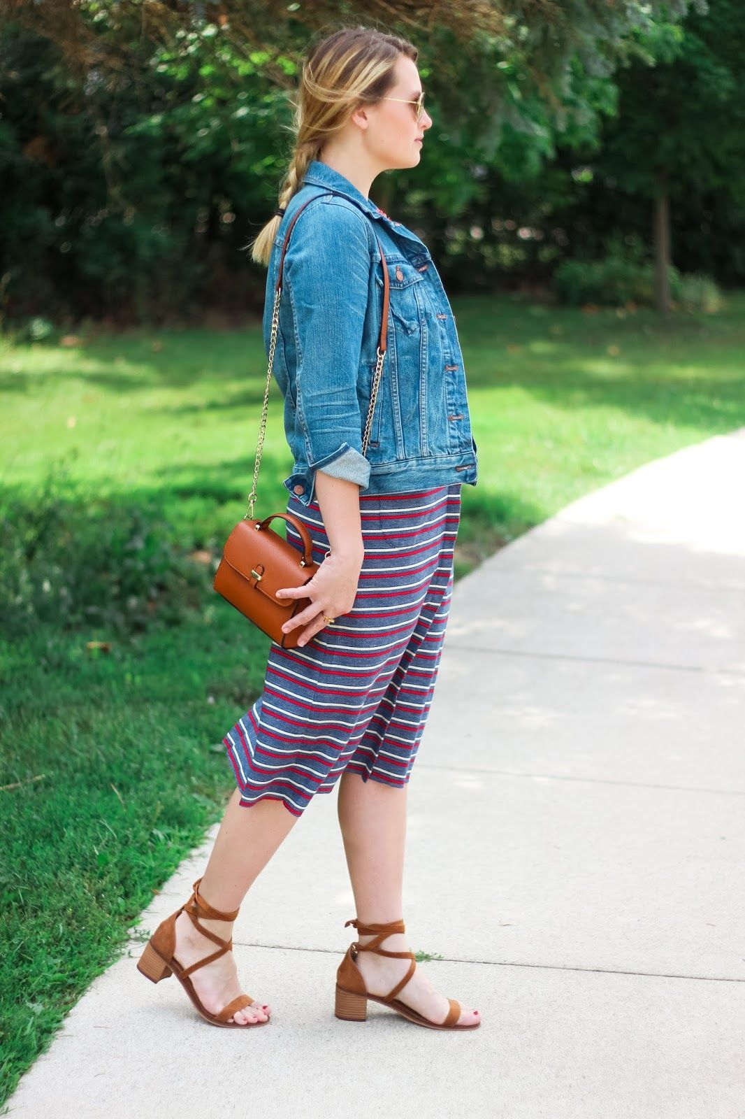 56c0dca325c The Black Barcode  My Vintage Stripe Find Madewell The Jean Jacket in  Pinter Wash