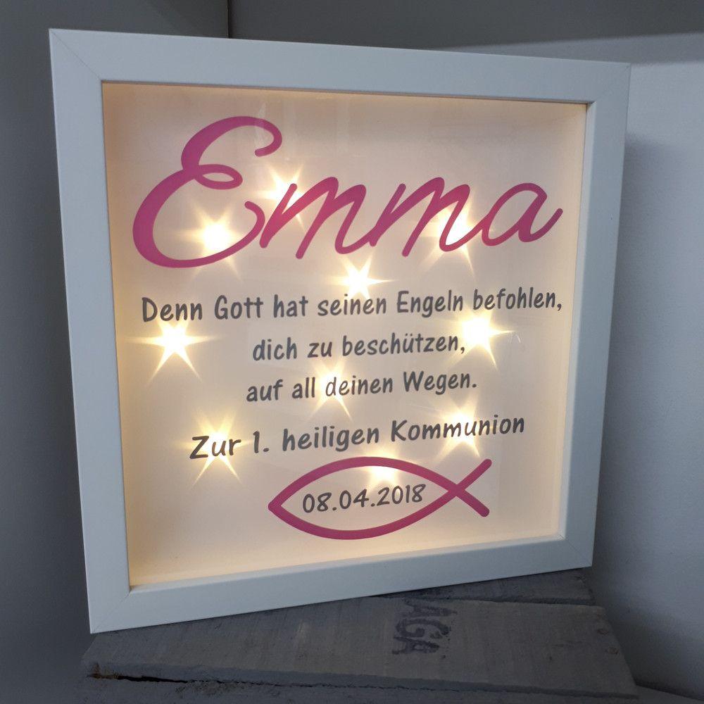 Bilderrahmen - Beleuchteter Bilderrahmen Kommunion/Konfirmation ...