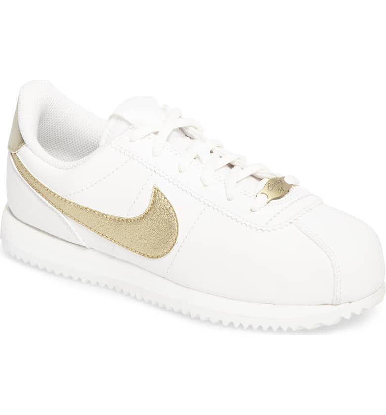 best service 6d405 8f0ce Cortez Basic SL Sneaker, Main, color, WHITE/ MET GOLD ...