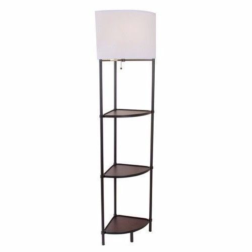 Corner Floor Lamp Column Shelf Stand