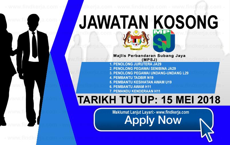 Kerja Kosong Mpsj Perbandaran Subang Jaya 15 Mei 2018 Applications Are Invited To Qualified Malaysian Citizens To Fill Th Training Development Skill Training