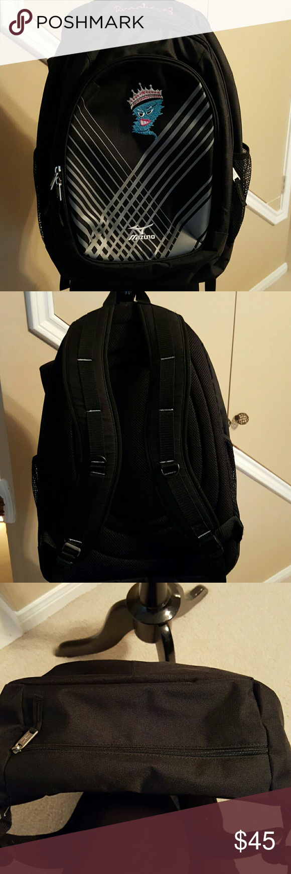 Mizuno Backpack Best School Bag Excellent Like New No Wear Bottom Shown In Pic 3 Engraved On Top Broo Cool School Bags School Bags Backpacks
